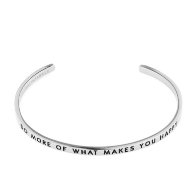 May Sparkle The Bangle Collection Happy Zilverkleurige Armband MS10007