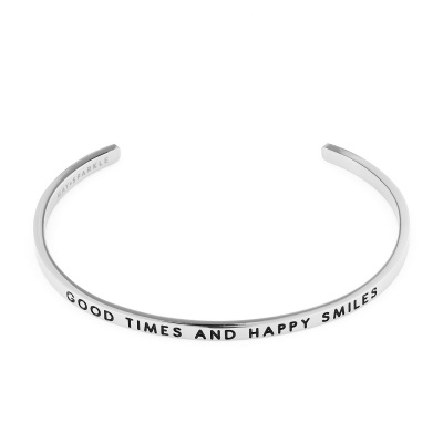 May Sparkle The Bangle Collection Smile Zilverkleurige Armband MS10009
