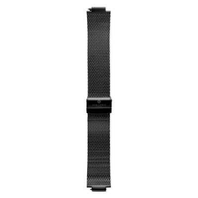 Sem Lewis Moorgate Mesh Strap 24mm Zwart SL620007