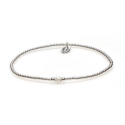 Karma 925 Sterling Zilveren Balistyle Armband 92337 (Lengte: 18.00 cm)
