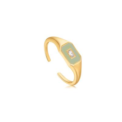 Ania Haie 925 Sterling Zilver Goudkleurige Bright Future Ring AH-R028-01G-G