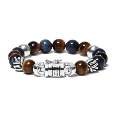 Buddha to Buddha Spirit Bead Mix Sodalite Tigereye Armband BTB188MS (Lengte: 19.00-21.00 cm)