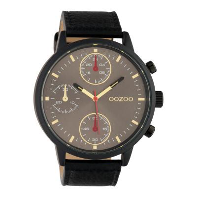 OOZOO Timepieces Zwart/Grijs horloge C10532