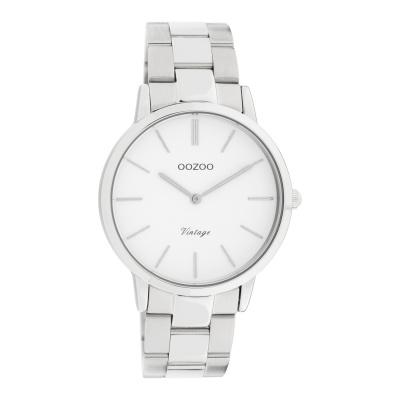 OOZOO Vintage Zilverkleurig/Wit horloge C20026