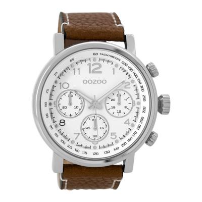 OOZOO Timepieces Bruin/Wit horloge C9455 (48 mm)