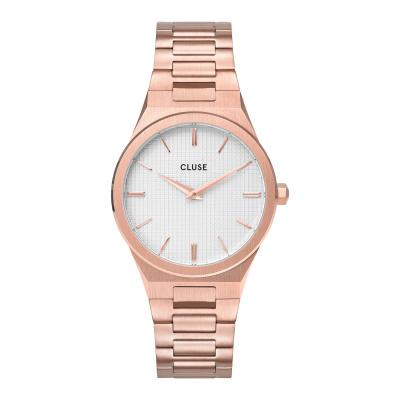 CLUSE Vigoureux Roségoudkleurig/Wit horloge CW0101210001