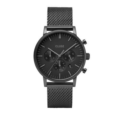 CLUSE Aravis Black Chronograaf horloge CW0101502007
