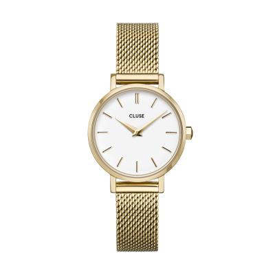 CLUSE Boho Chic Petite Goudkleurig/Wit horloge CW0101211001