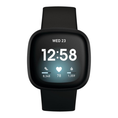 Fitbit Versa 3 Zwart display smartwatch FB511BKBK