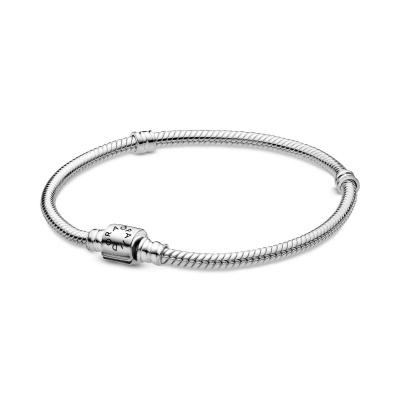 Pandora Moments 925 Sterling Zilveren Snake Chain Armband 598816C00 (Lengte: 17.00-21.00 cm)