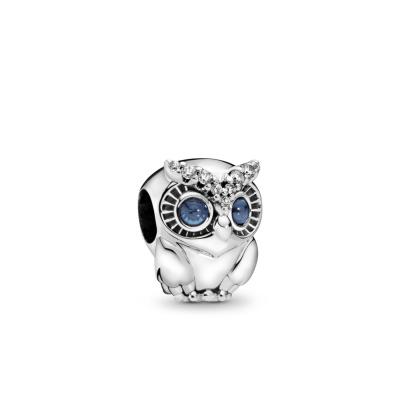 Pandora Moments 925 Sterling Zilveren Owl Bedel 798397NBCB