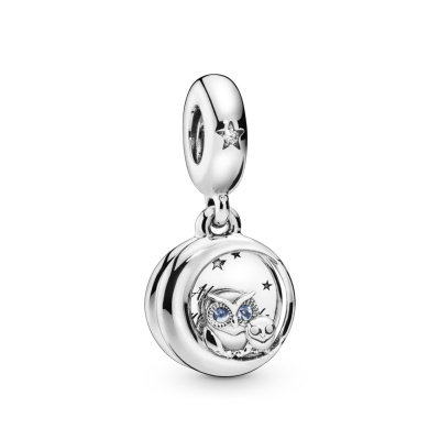 Pandora Moments 925 Sterling Zilveren Owl Bedel 798398NBCB