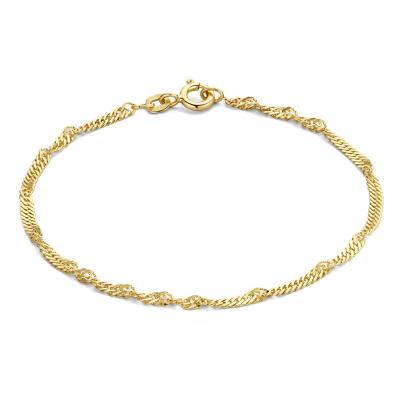 Isabel Bernard 14 Karaat Gouden Rivoli Lilou Armband IB2001107 (Lengte: 18.00 cm)