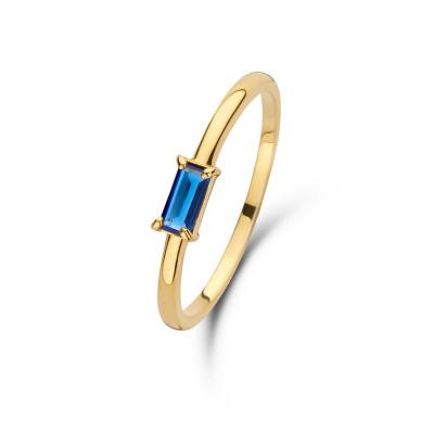 Isabel Bernard 14 karaat gouden Baguette Odie ring IB330022 (Sieraden)