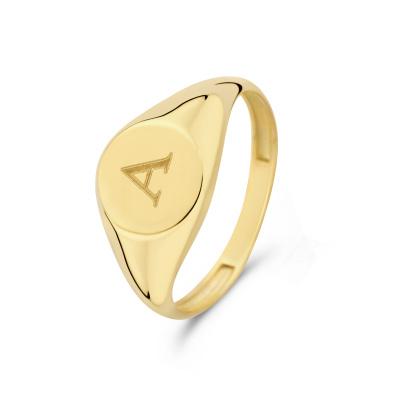 Isabel Bernard Le Marais Lauren 14 Karaat Gouden Initial Ring IB330034A (Letter: A)