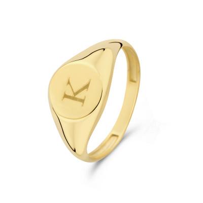 Isabel Bernard Le Marais Lauren 14 Karaat Gouden Initial Ring IB330034K (Letter: K)