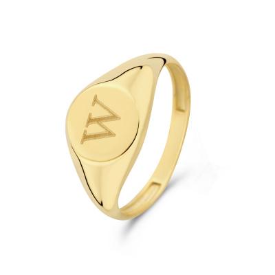 Isabel Bernard Le Marais Lauren 14 Karaat Gouden Initial Ring IB330034W (Letter: W)