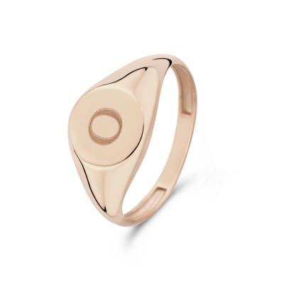 Isabel Bernard La Concorde Lauren 14 Karaat Rosé Gouden Initial Ring IB330036O (Letter: O)