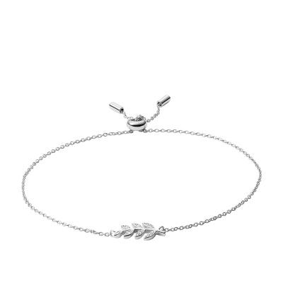 Fossil Sterling Silver Bracelet JFS00484040 (Size: 21.5 cm)