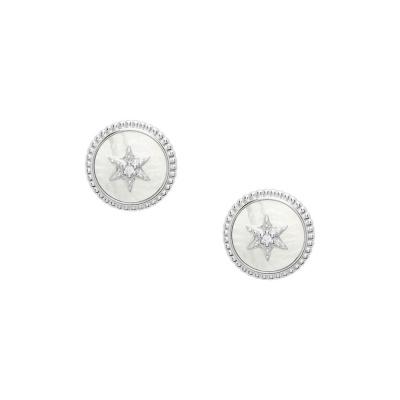 Fossil Sterling Silver Earring JFS00500040