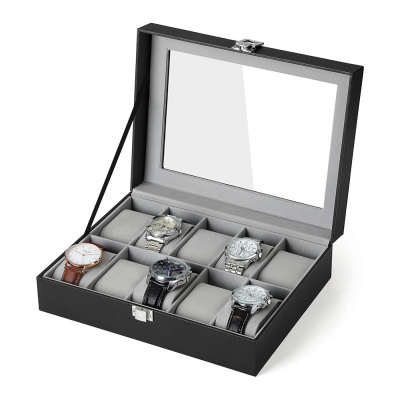 Brandfield Zwarte Horlogebox Voor 10 Horloges JWB010BK