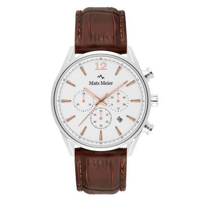 Mats Meier Grand Cornier Chrono Wit/Rosegoudkleurig horloge MM00105