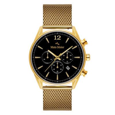 Mats Meier Grand Cornier Chrono Zwart/Goudkleurig horloge MM00120