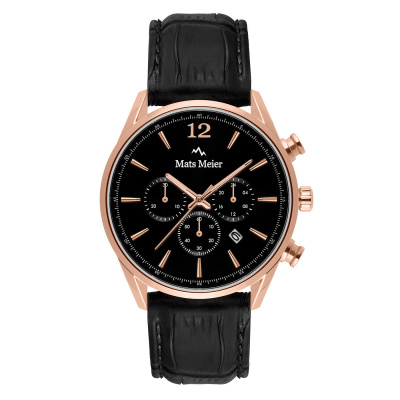 Mats Meier Grand Cornier chronograph black  / rose gold colored MM00129