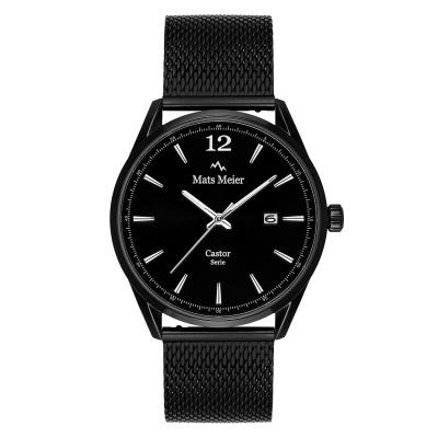 Mats Meier Castor Mat Zwart horloge MM01008