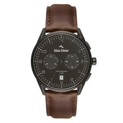 Mats Meier Mont Vélan chronograph black / brown MM10005