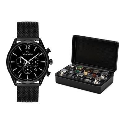Mats Meier Grand Combin Horlogebox Zwart Met Horloge Giftset  MM90020