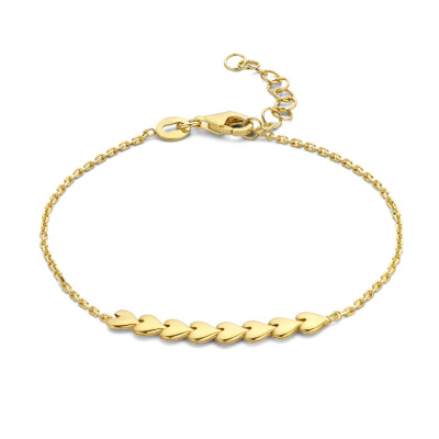 May Sparkle Happiness Sunny 925 Sterling Zilveren Goudkleurige Armband MS320021 (Lengte: 16.50-19.50 cm)
