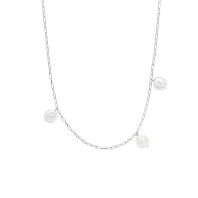ANNA + NINA 925 Sterling Zilveren Surreal World Never Enough Pearls Ketting 20-1M903002S (Lengte: 53.00 cm)