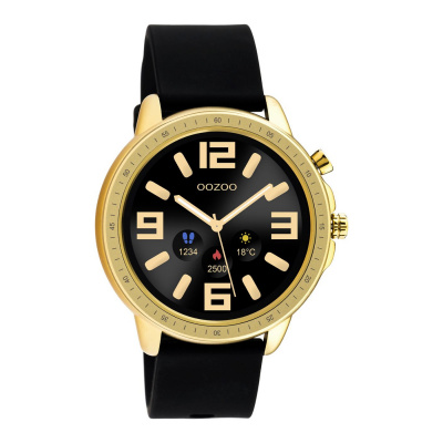 OOZOO Zwart/Goudkleurig Display Smartwatch Q00301