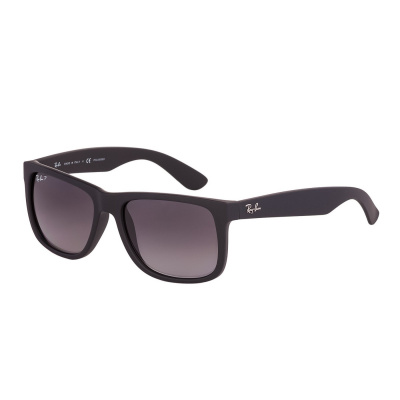 Ray-Ban Justin Black Rubber Gepolariseerde Zonnebril RB4165 622/T3