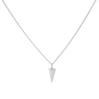 Karma 925 Sterling Zilveren Round Cone Ketting T194 (Lengte: 50.00-57.00 cm)