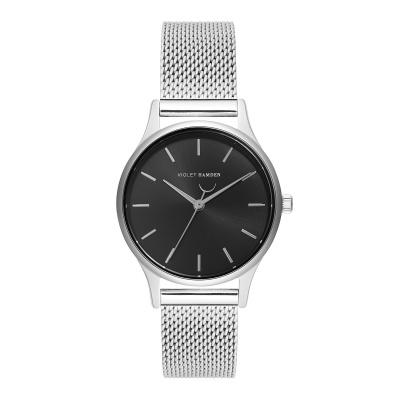 Violet Hamden Day & Night Silver Colored/Black horloge VH05015