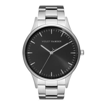 Violet Hamden Moon Phase Silver Colored/Black horloge VH05029