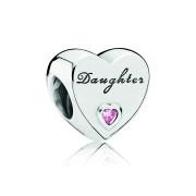 Pandora Zilveren Daughter Heart Bedel 791726PCZ
