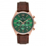 Mats Meier Grand Cornier Chrono Groen/Rosegoudkleurig horloge MM00114
