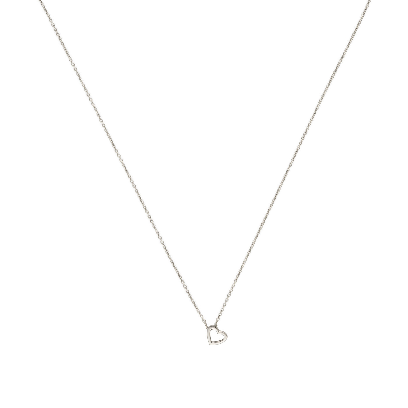 Abbildung von Minitials 18 Carat Gold White gold Colored Signature Open Heart Necklace